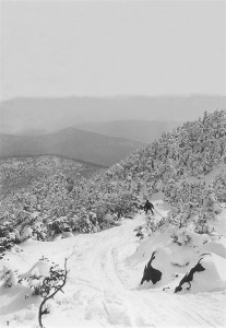 A downhill race on the Mt. Moosilauke Carriage Road, 1929