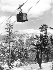 Cannon Mountain's Aerial Tramway about 1939