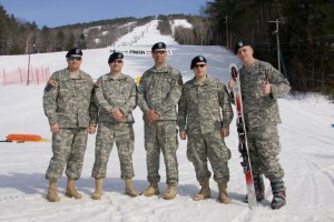 Active duty 10th Mountain Division soldiers from Fort Drum, NY