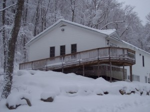 Paumgarten Building in early winter.