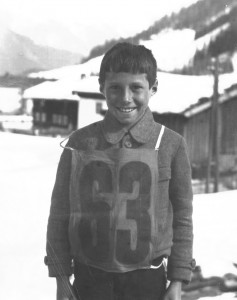 Herbert Schneider as a youth in St. Anton