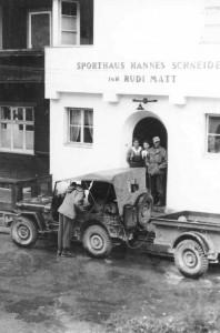 Herbert in St. Anton 1945
