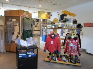 Vintage clothing on display