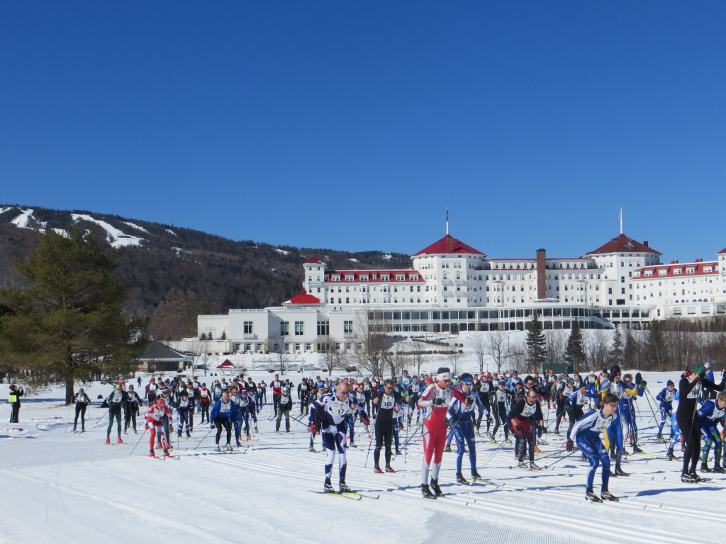 The field in the 2013 Bretton Woods Nordic Marathon was the largest yet.