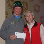 2013 men's marathon winner Alex Howe with Omni Mt. Washington Hotel managing director Stephen Hilliard