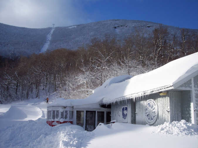 New England Ski Museum in winter