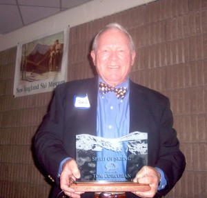 Tom Corcoran received the inaugural Spirit of Skiing award