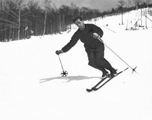 Herbert Schneider skiing at Cranmore