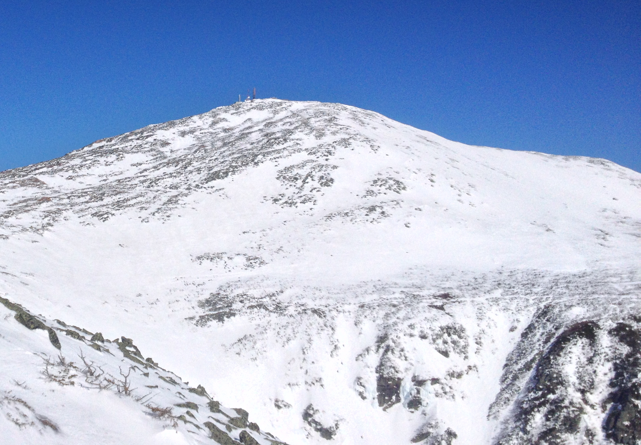 The summit cone from the top of the Duchess, April 12, 2014. Alex Leich photo.