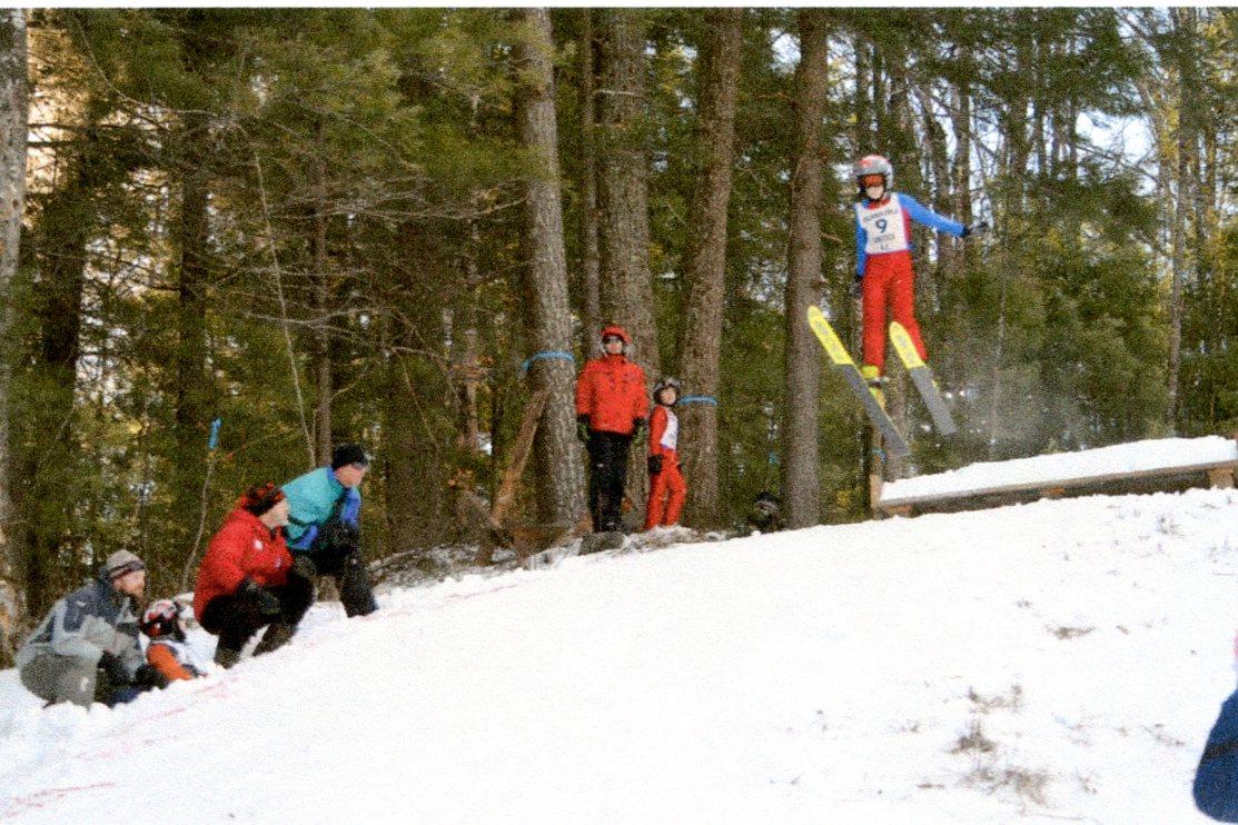 The 10 meter ski jump at Gunstock in January, 2013.