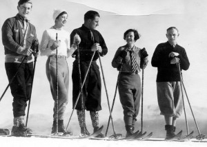 Erling Strom, center, teaches a ski class at Lake Placid