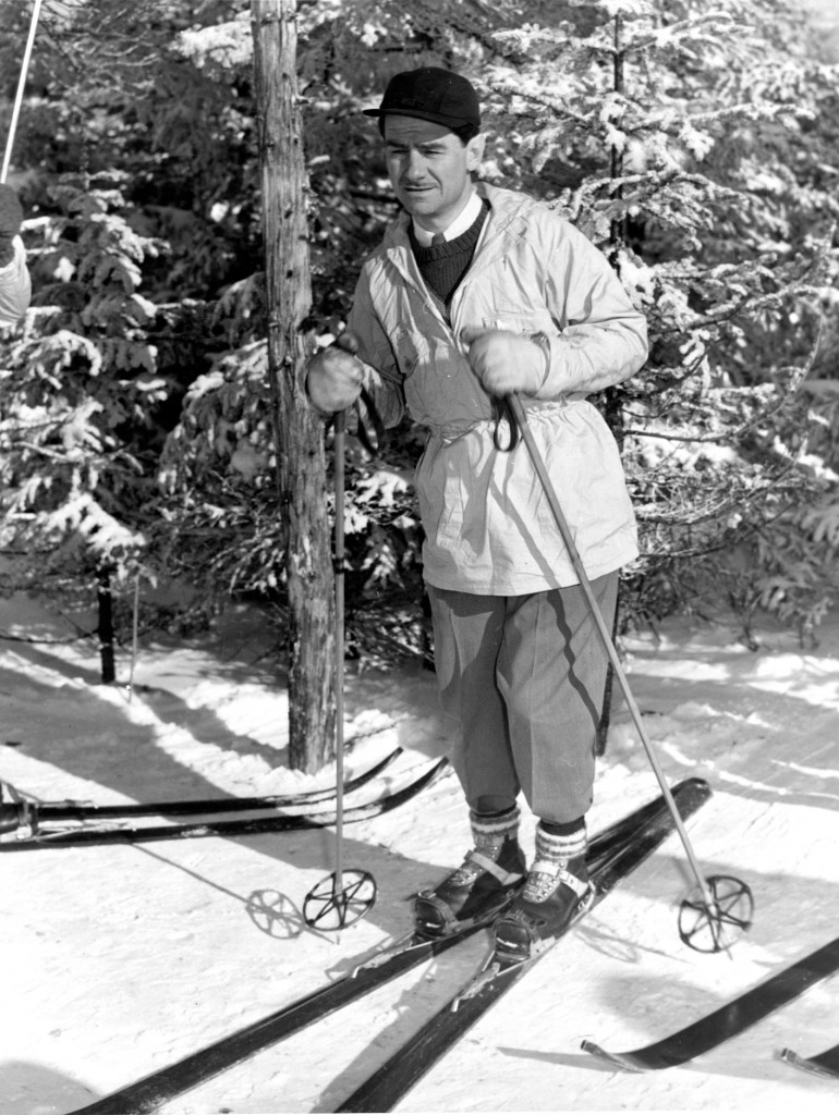 Lowell Thomas at Cannon Mountain, NH