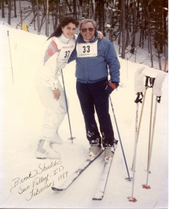 What a life! Cal Conniff with Brooke Shields in Sun Valley, 1987.